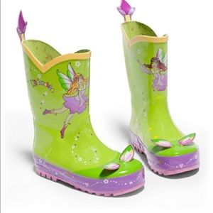 Kidorable Girls Green Fairy Rain Boots Many Sizes